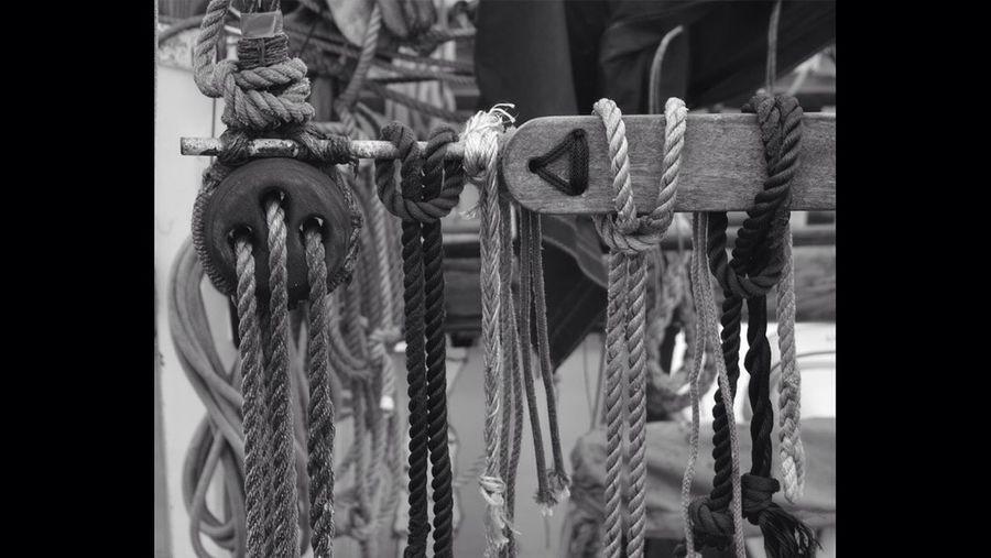 Fishermen Knots Trawlers Boat Portsoy Black And White