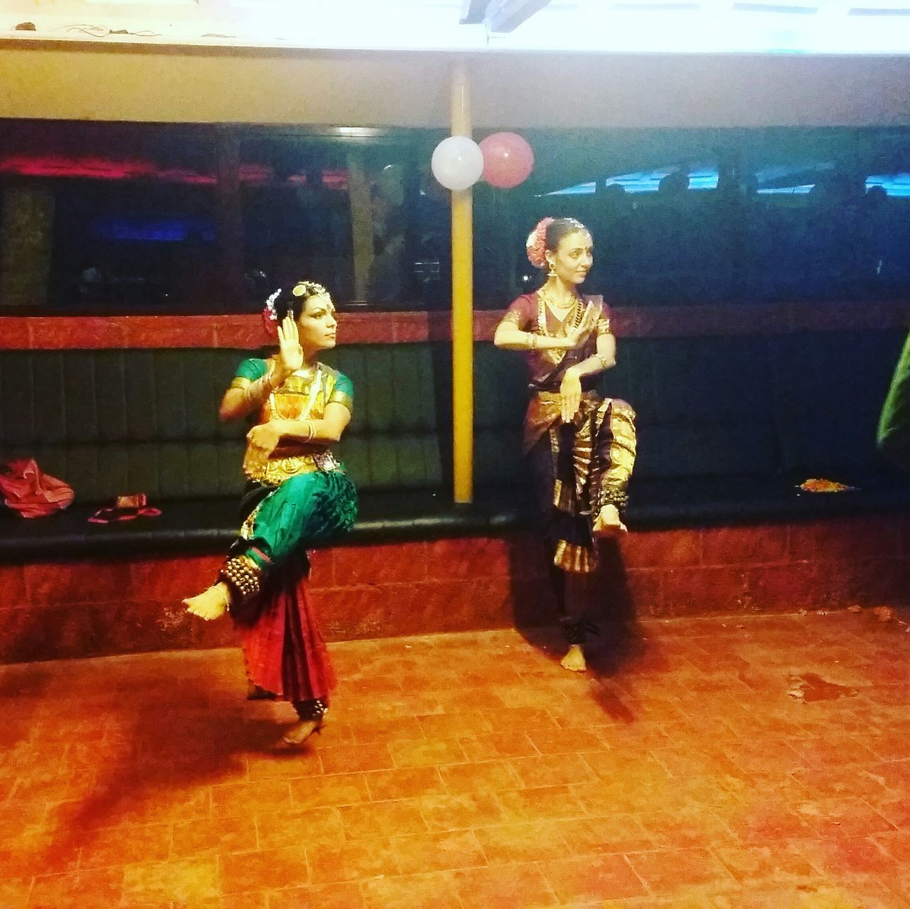 Traditional Indian Dance Bharatanatyam Foreigners. Dancing Beauties