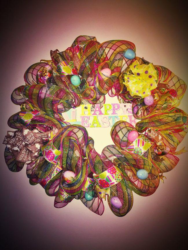 Deco Mesh Wreath Holiday Easter DIY