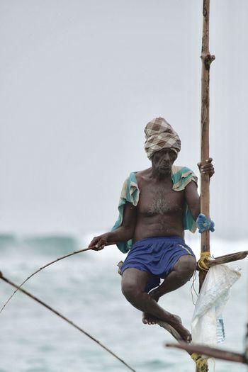 Angry Man Fisherman Tribal Natural Light Portrait First Eyeem Photo Fisherman Sri_lanka Tamil Turban ASIA Real People Fishermen In Sri Lanka Finally I founder the famous fishermen in Sri Lank