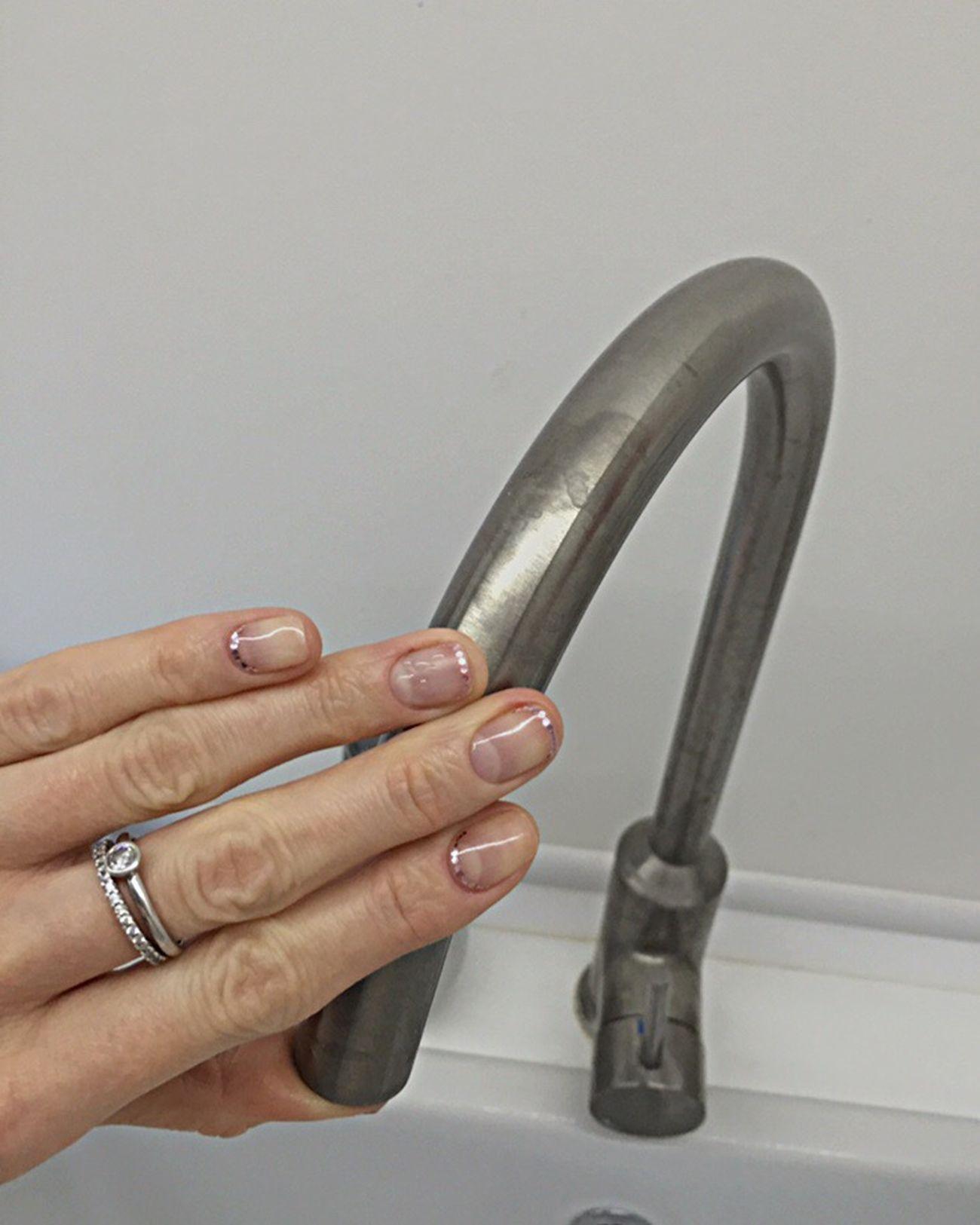 Hand Fingers Hello World Nail Shellac
