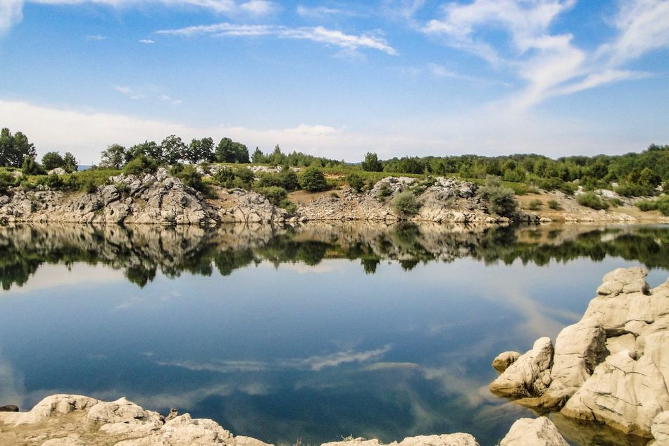 Croatia Sky Nature Water Tree Landscape Reflection Scenics No People Outdoors Rock - Object Beauty In Nature Tranquility Lake Tranquil Scene Day Croatia Croatia Full Of Life Croatia Exploring Miles Away