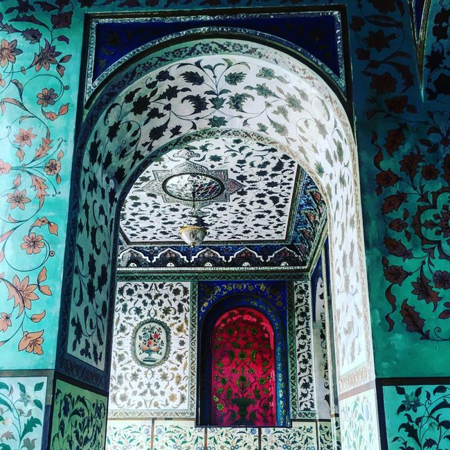 EyeEmBestPics Museum Tehran Eyeemphotography Golestan Palace Architectural Detail Iran Architecture_collection Persian Architechture ArchiTexture Tile Work Painting Wall Decoration Architectural Feature Color Palette