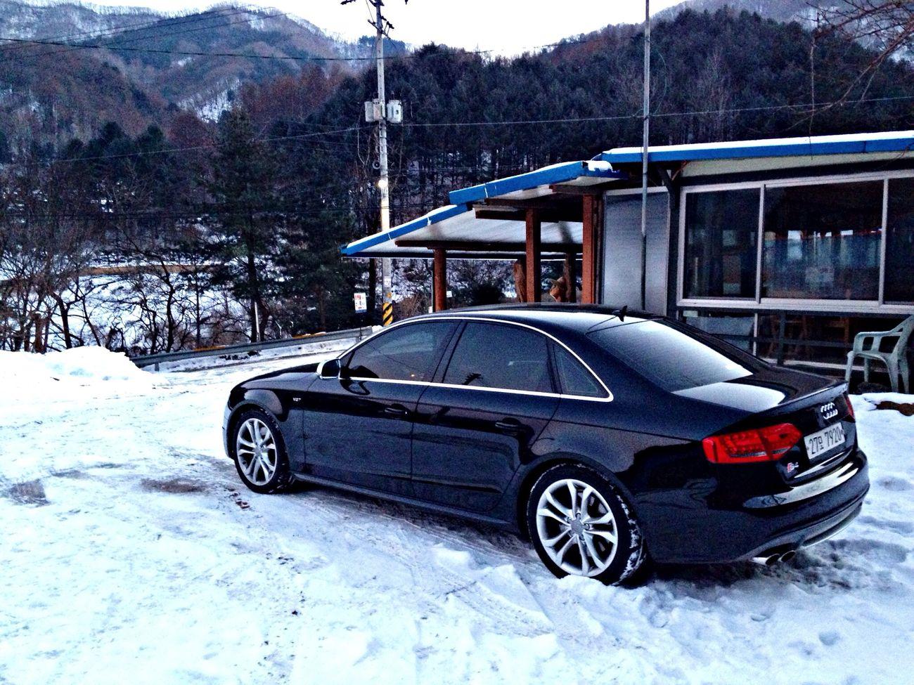 눈쌓인산길.... 4륜을 느끼며... Audi Snow S4