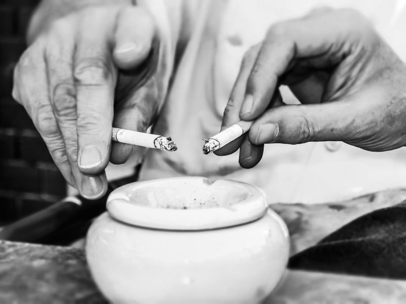 Ash Blaze Cigarette  Cigarettes 👌💕 Close-up Container Detail Focus On Foreground Glow Hand Hands Heat Human Hand Indoors  Men Red Selective Focus Smoke Smoker Smokers Still Life Table