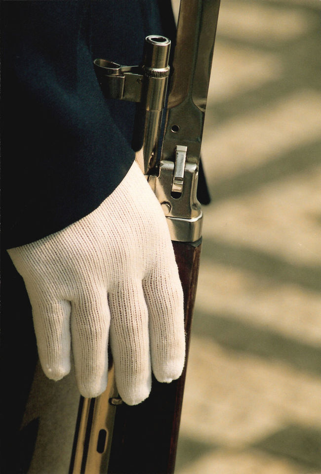 Close-up Czech Republic Glove Guard Hradčany Man Made Object Rifle Selective Focus Single Object Soldier