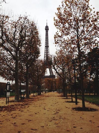 Paris Love Toureiffel Tourism Architecture Autumn Travel Destinations
