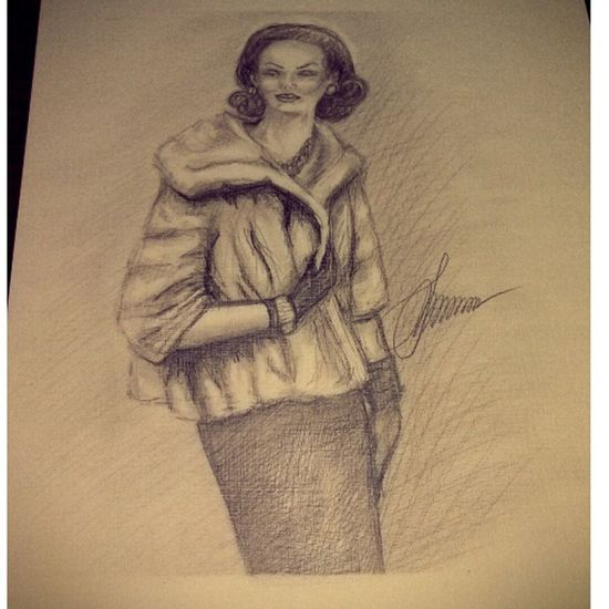 иллюстрация мода50х рисунок карандаш набросок drawingapencil drawing sketch art ArtWork fashion50s
