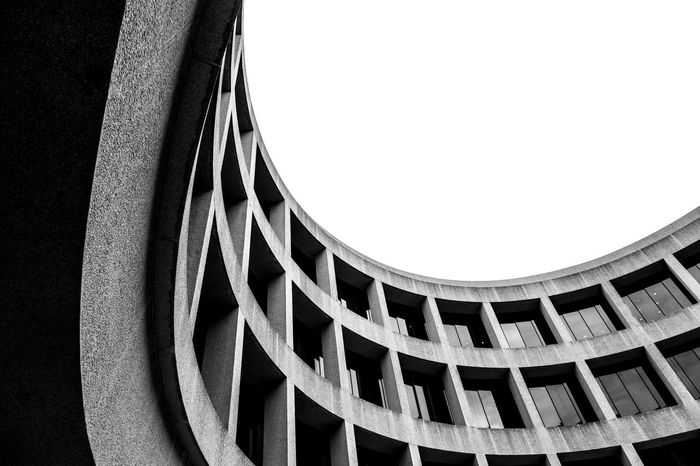 Hirshhorn Museum Abstract Architecture B&w B&w Photography Black & White Black And White Blackandwhite Built Structure Close-up Concrete Curve Curved  Day Hirshhorn  Indoors  Looking Up Modern No People Oval Pattern Smithsonian Windows