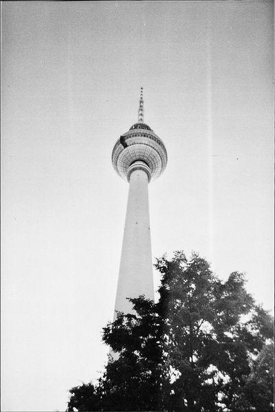 Berliner Fernsehturm Film Filmisnotdead Berlin My Fuckin Berlin Architecture Architecture_bw Blackandwhite Monochrome Taking Photos Being A Tourist
