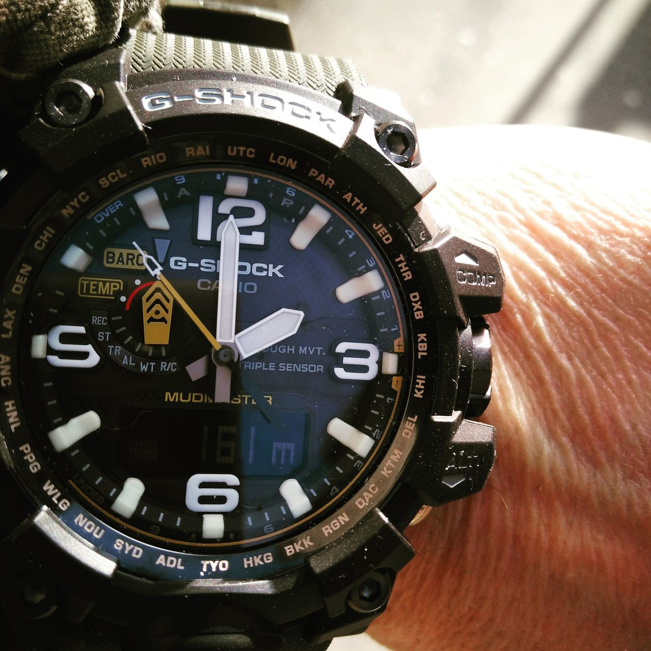 Time Clock Clock Face No People Timer Hour Hand Minute Hand Second Hand Instrument Of Time Casiowatch G-Shock ⌚ Gshockwatch GshockCasio Gschock Mudmaster gwg-1000
