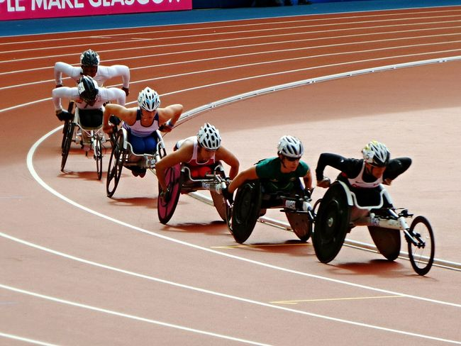 On the final lap... Commonwealth Commonwealthgames Glasgow 2014 Commonwealth Games Sport Sports Sports Photography Race Track Racing Wheelchair Capturing Movement