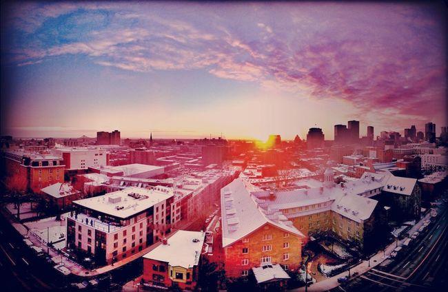 sunrise at downtown Sunrise