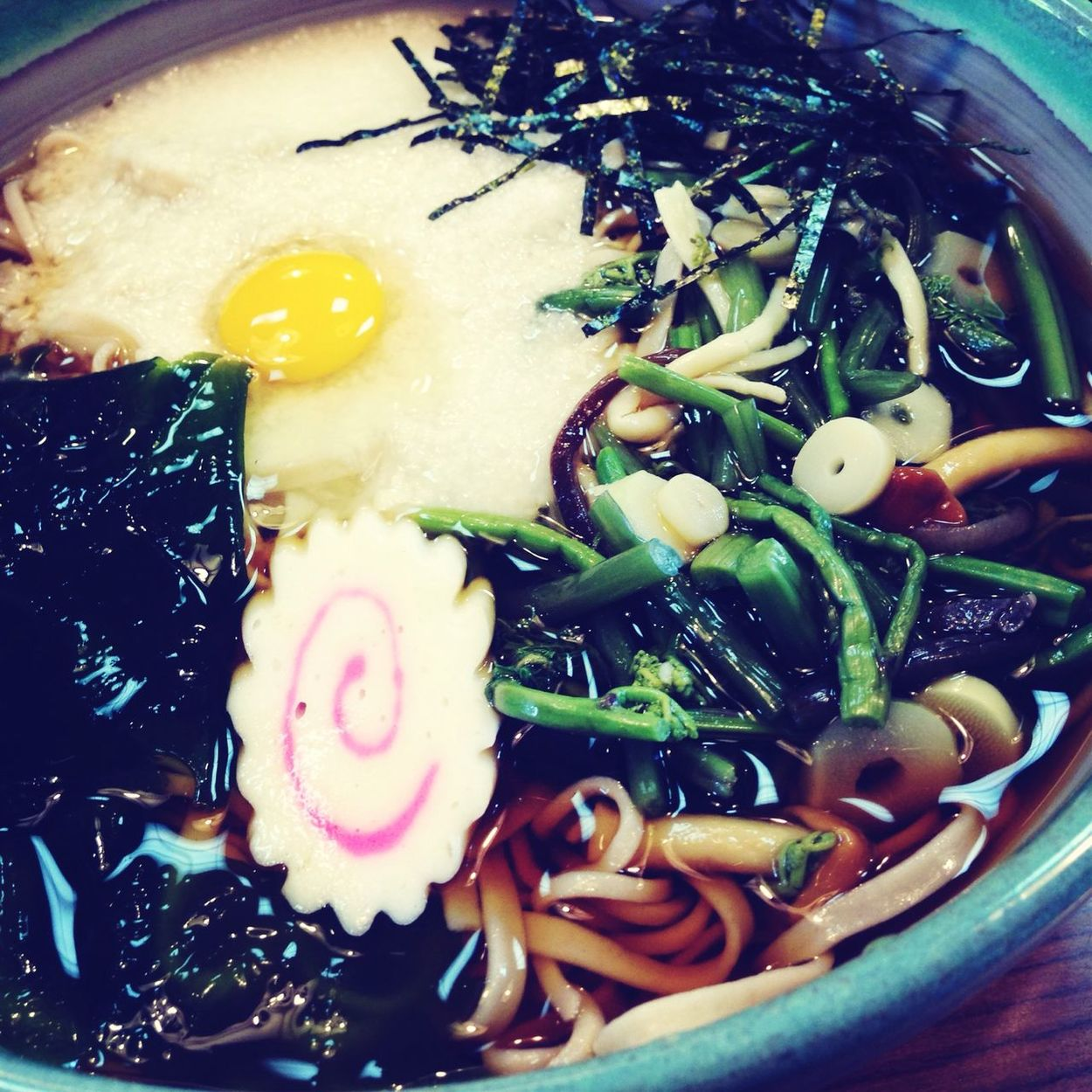 Today's lunch is SOBA noodle at JINDAI-JI Temple!