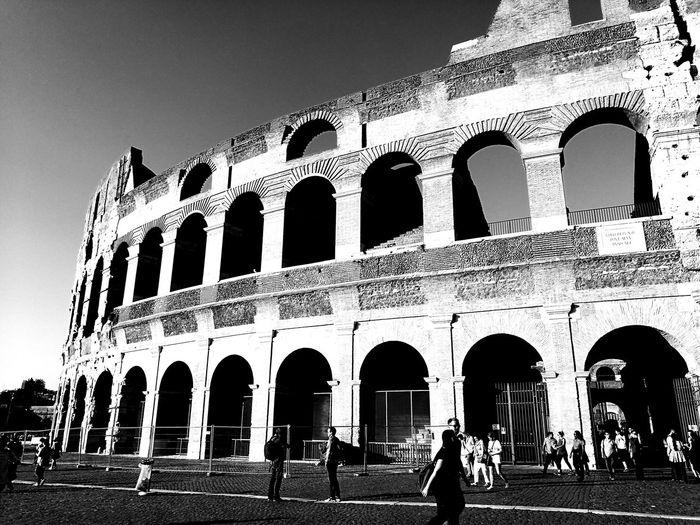 Kolosseum Travel Rom Roma Blackandwhite