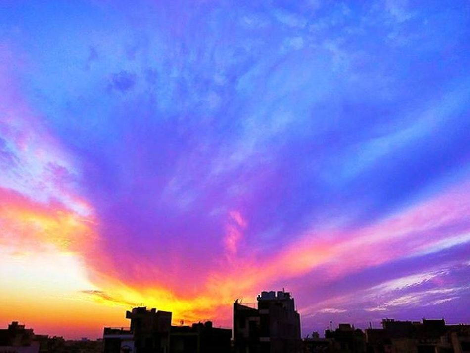 sunset sky speaks everything Live life Peace Landscape ✌ Dark Clouds Above SKY POWER Peace ✌ Vibrant Colors