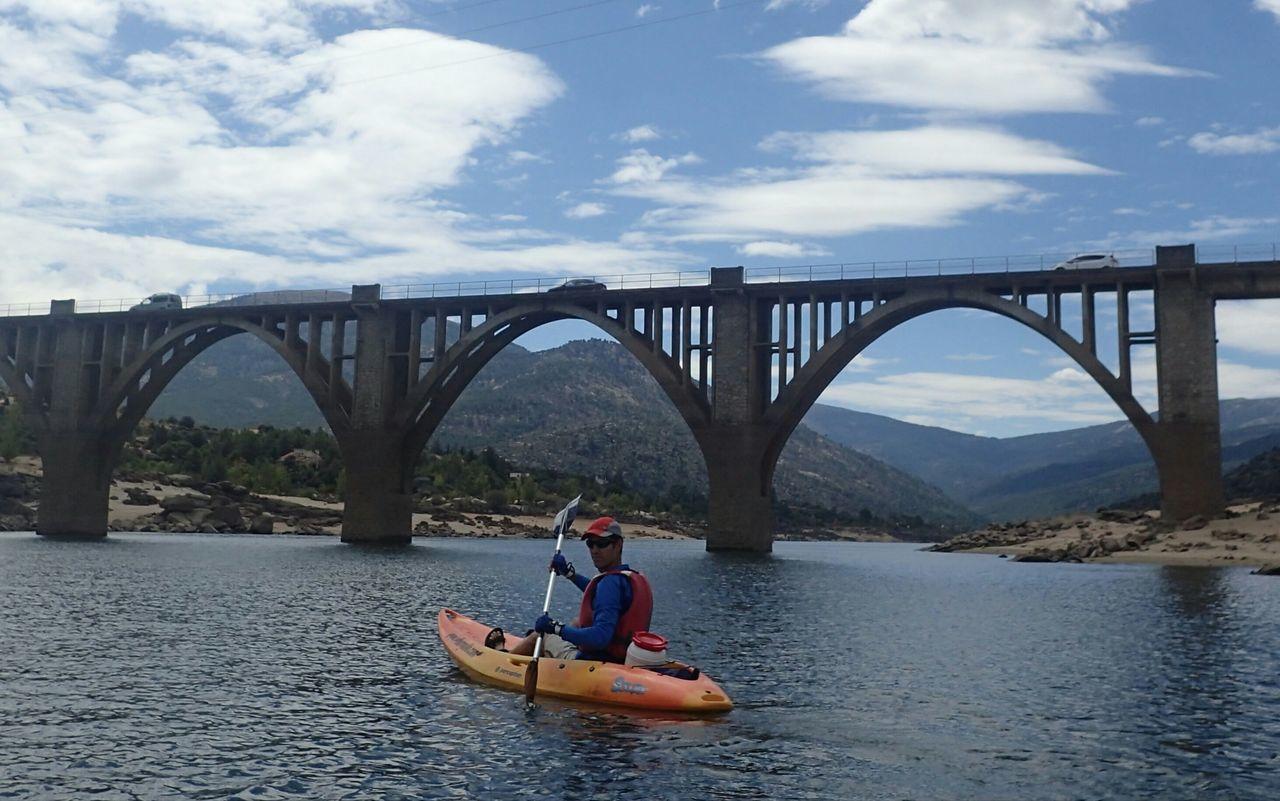 Embalse del Burguillo Bridge Embalse Del Burguillo Kayak Kayaking Leisure Activity Lifestyles Nature Piragua Vacations Water