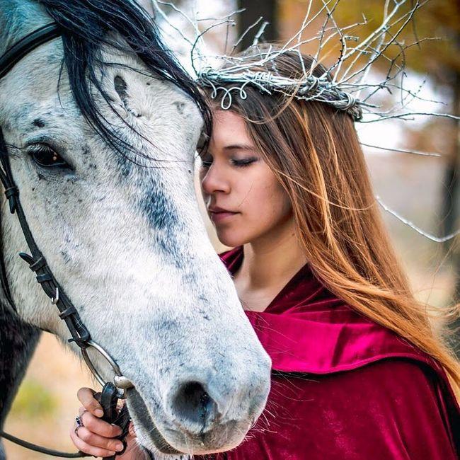 Сказачная осень Autumn Elf Horse Fairytale