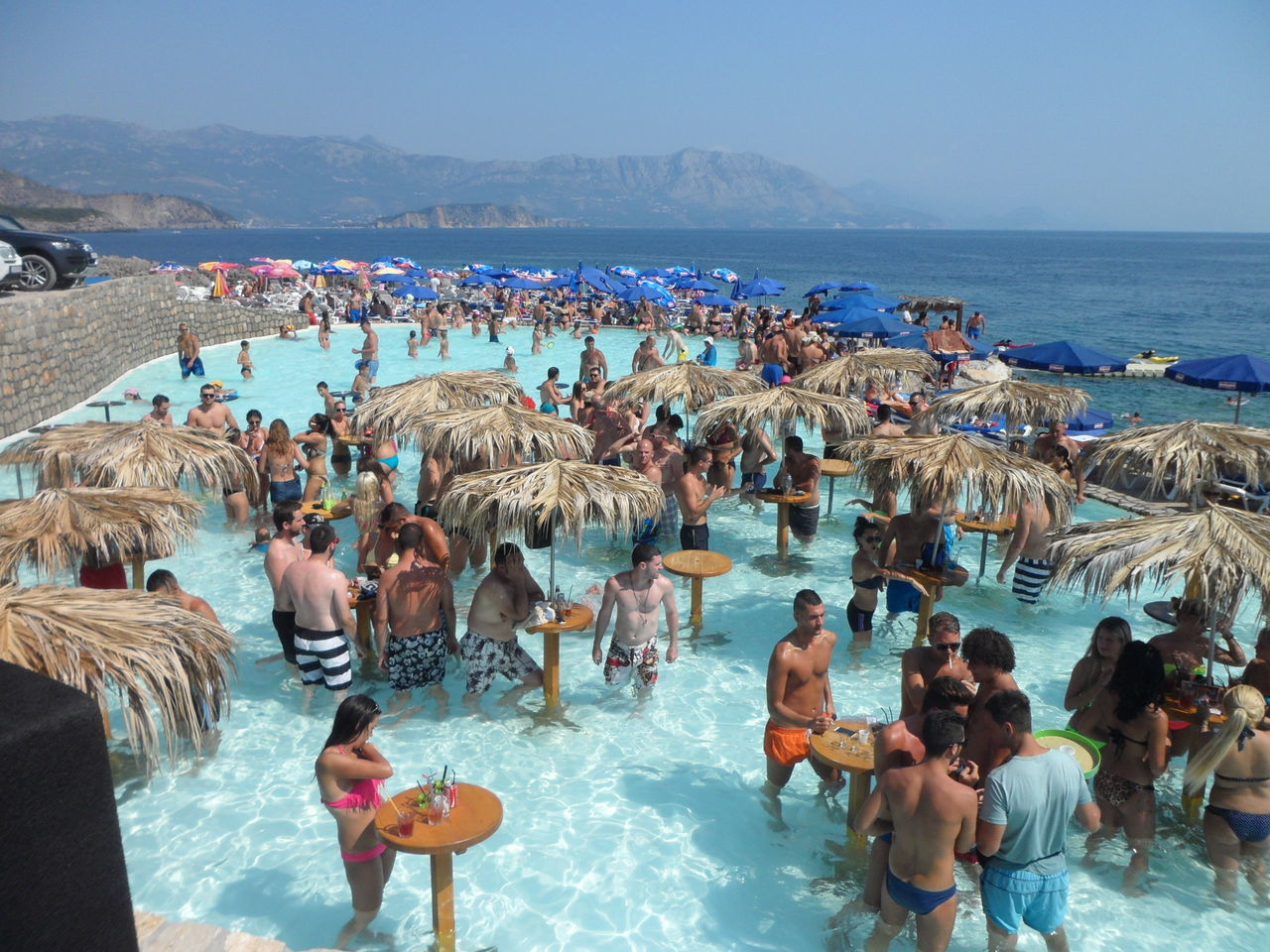 Budva Montenegro Ploce Holiday Travel Photography Party Time! People Check This Out Enjoying Life Pool