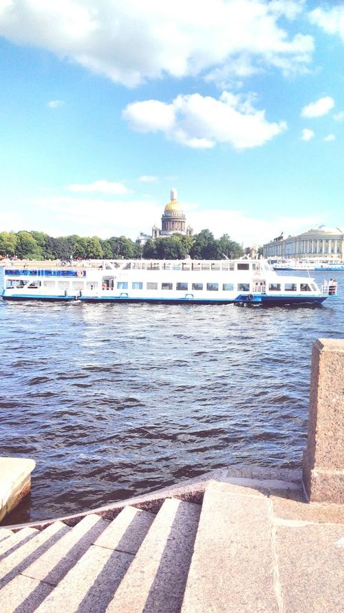 Water Boat Sky Building Exterior Day River Outdoors Saint Petersburg