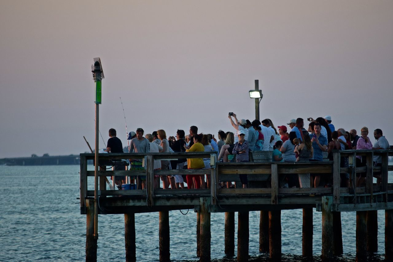 People watching the sunset at Dunedin Marina in Florida. #sunset #sun #clouds #skylovers #sky #nature #beautifulinnature #naturalbeauty #photography #landscape Dunedin Dunedin, Florida Florida Sunset Nature Outdoors People Watching Sunset Sunset Tranquility People And Places People Together