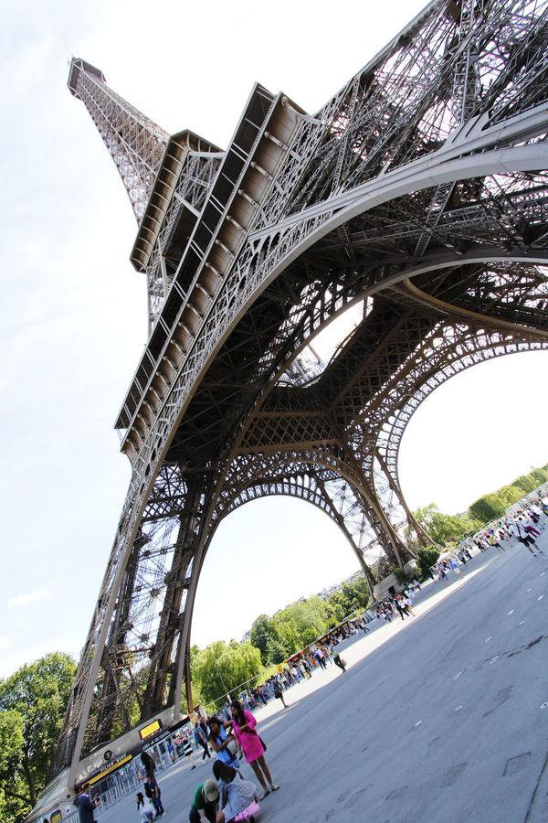Eiffel Tower France International Landmark Low-angle Shot Paris Tourist Attraction  Travel Travel Destination