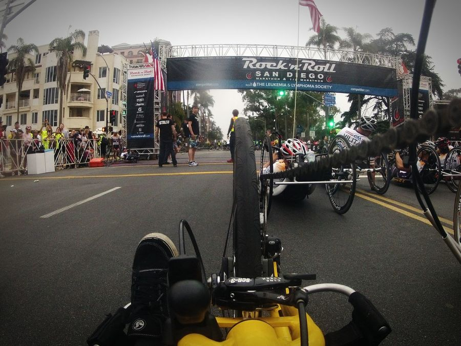 My View At The Starting Line IShootFromMyWheelchair My Perspective Perspective Sports Sports Photography Handcycle Handcyclist Adaptive Sports Adaptive Athletes San Diego Ca San Diego Marathon Rocknrollmarathon Goprophotography Outdoors EyeEm Eyeem Market Photo Of The Day Original Experiences Fresh On Eyeem  Starting Line Gopro On The Way On The Move