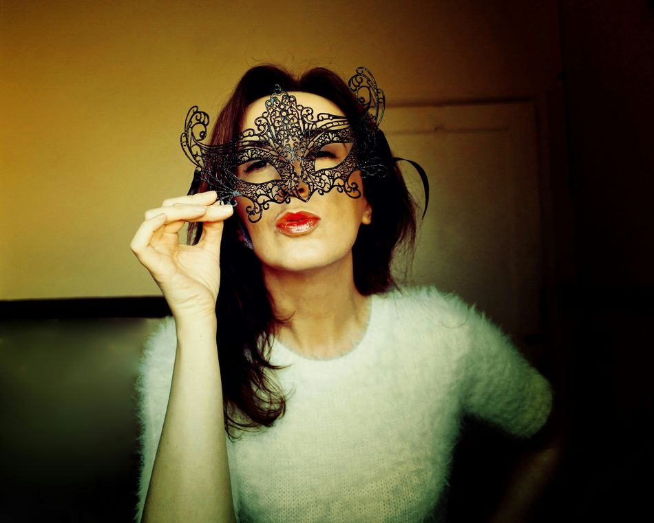 Happy Halloween Learn & Shoot: Single Light Source EyeEm Best Shots Portrait Of A Woman LookingGood Venetian Mask Beautiful Girl Kiss SJ Charles My Best Photo 2015 The Portraitist - 2016 EyeEm Awards Your Design Story Natural Light Portrait People And Places The Culture Of The Holidays
