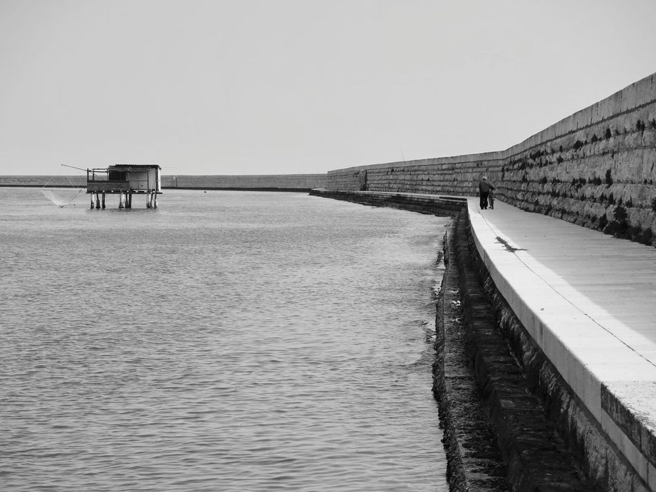 Architecture Art, Drawing, Creativity ArtWork Beauty In Nature Black & White Black And White Black And White Photography Blackandwhite Built Structure Clear Sky Day EyeEm Best Shots Fishing Fishing Village Horizon Over Water Island Nature No People Outdoors Scenics Sea Sky Tranquil Scene Tranquility Water