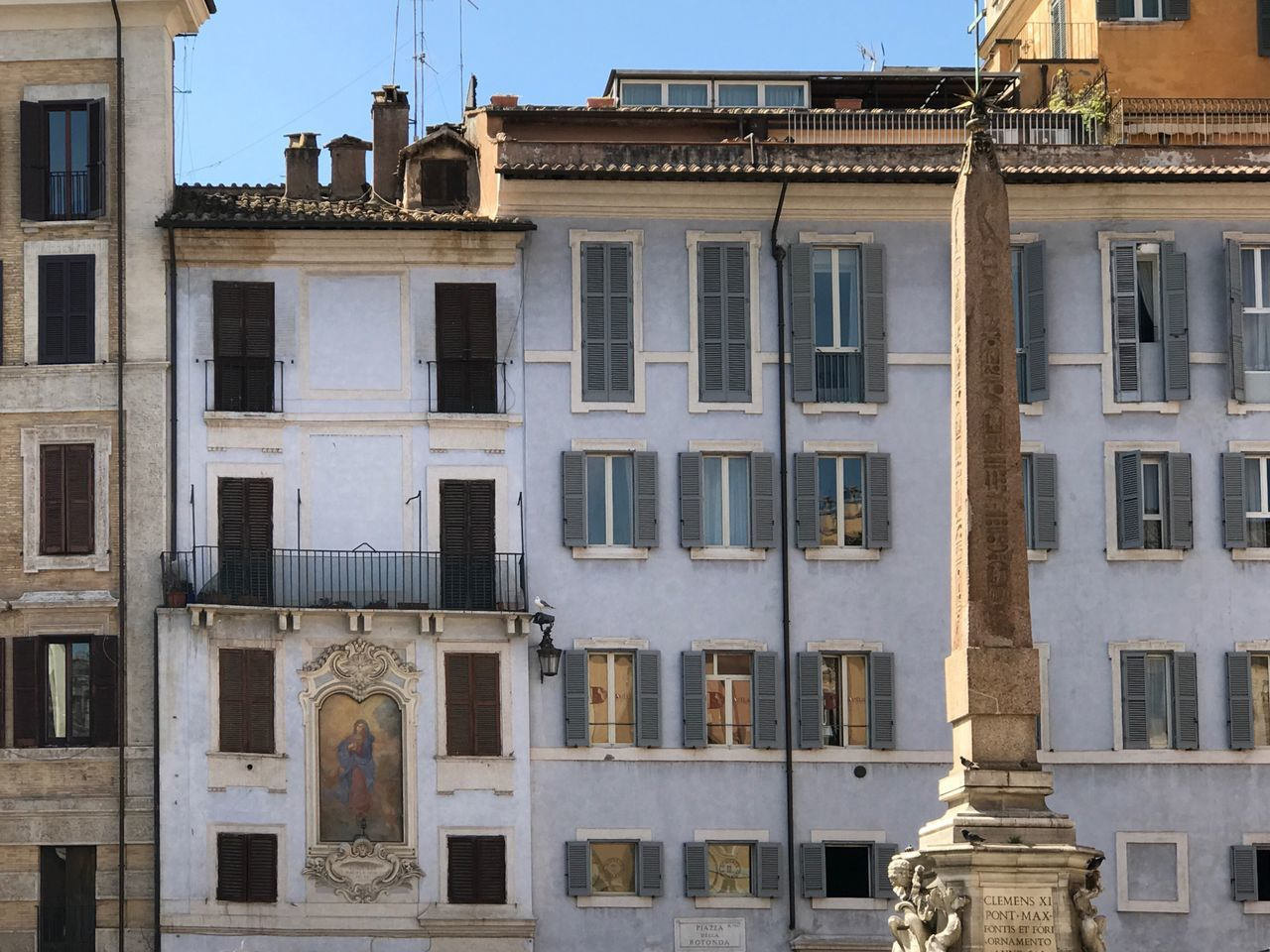 Facades Building Exterior Architecture Built Structure Window Outdoors Low Angle View City No People Sky Day Architecture Widows Rome Pantheon Building Facade Building Façade