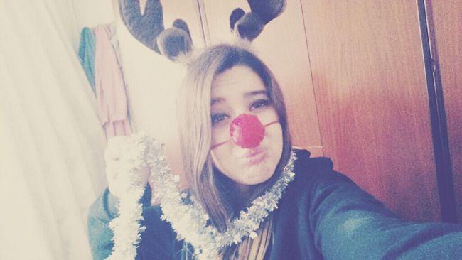 Merry Christmas☆/Feliz Navidad☆. Reindeer Model Lovely Tumblrgirl