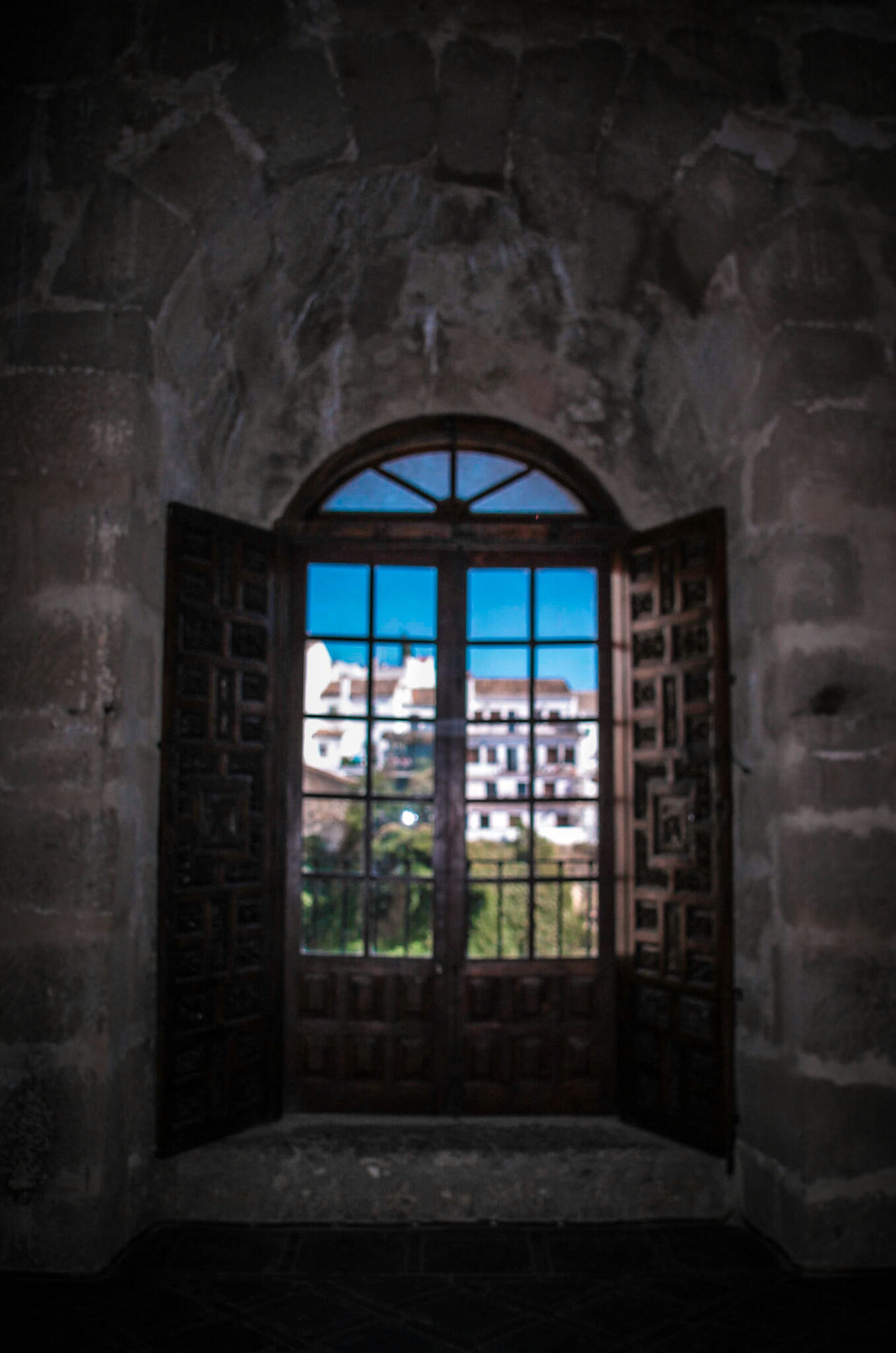 Window Indoors  No People Architecture Built Structure Arch Day Ronda, Malaga Ronda Ronda Spain EyeEm Gallery Check This Out Framed Puente Nuevo De Ronda