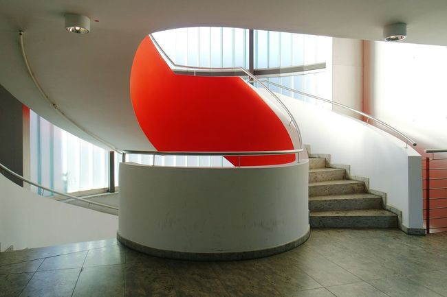 staircasefriday on my mind..... Best Of Stairways Stairways Point Of View Red Architecture Modern Architecture Steel Beton Glass Swingsbothways Interior Views Your Design Story