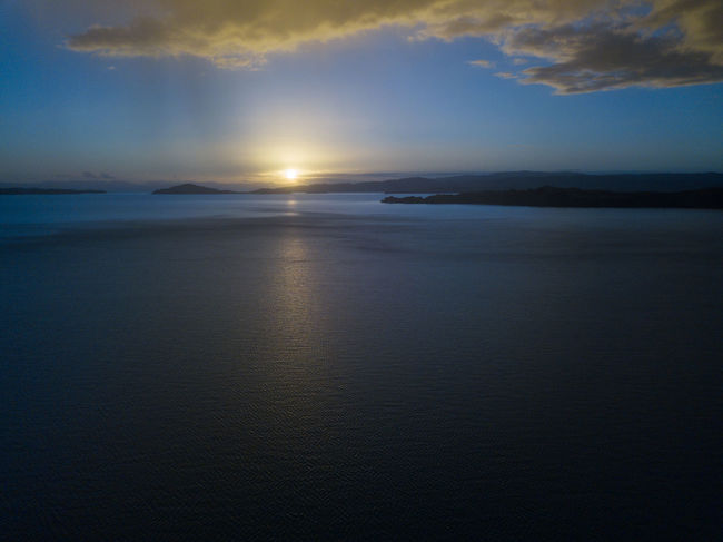 Aerial view of Maraetai, Auckland. Drone  Beach Beauty In Nature Dronephotography High Angle View Horizon Over Water Landscape Maraetai Nature New Zealand Outdoors Reflection Scenery Scenics Sea Sky Subtle Sunset Tranquil Scene Tranquility Water