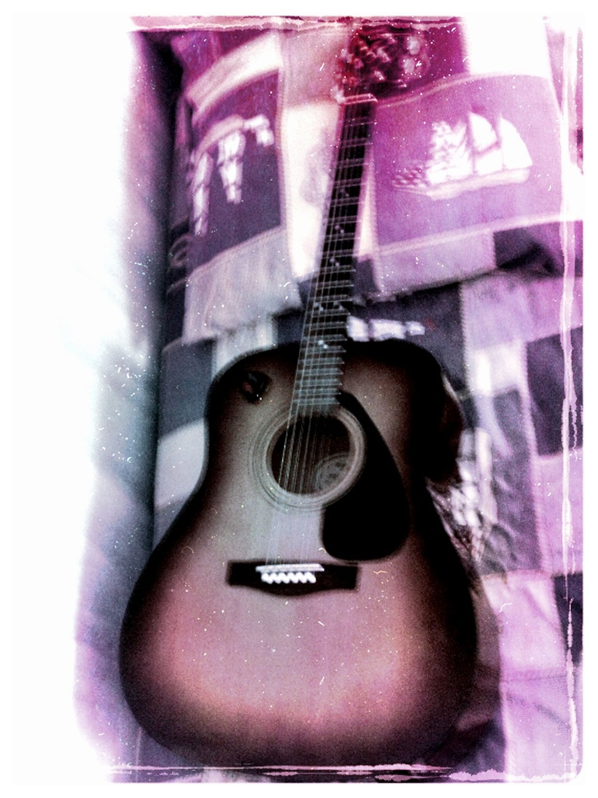 indoors, music, close-up, still life, arts culture and entertainment, musical instrument, fashion, technology, guitar, single object, musical equipment, auto post production filter, musical instrument string, high angle view, man made object, old-fashioned, leather, transfer print, connection, shoe