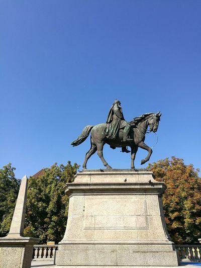 Kaiser Wilhelm I Monument in Stuttgart. Statue Human Representation Monument Stuttgartmobilephotographers Stuttgart History Tourism Horseback Riding Wilhelm Kaiser Wilhelm I.