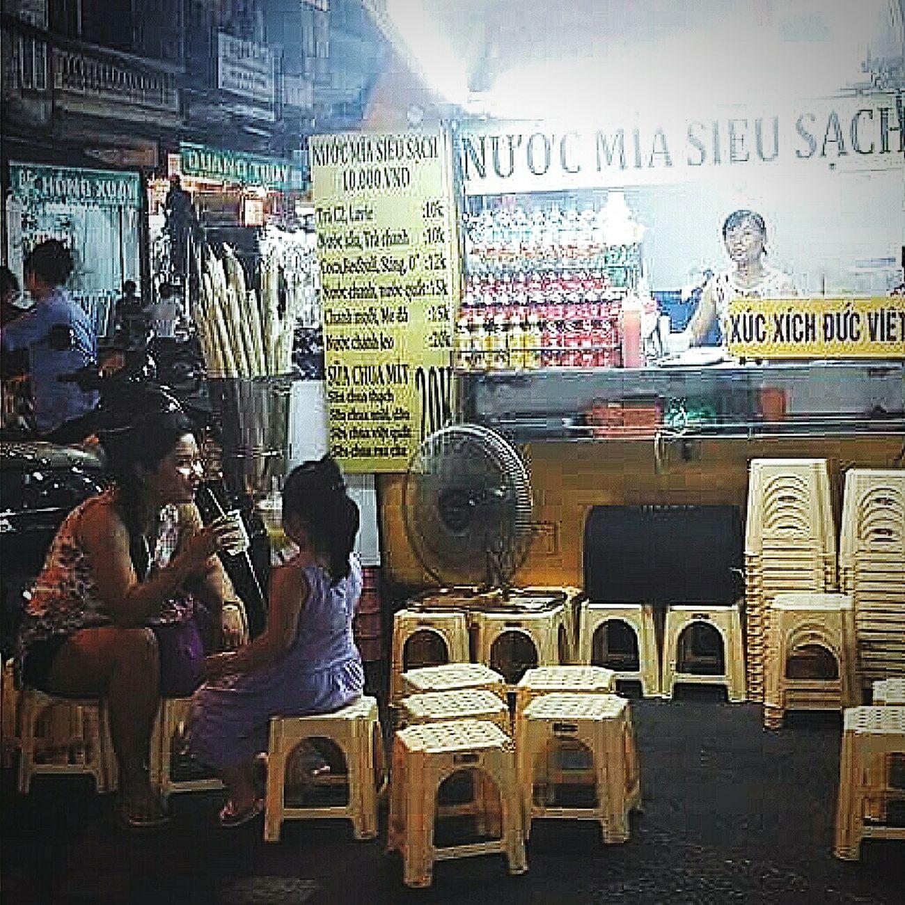 Beverage Stall Sugar Cane Night Hanoi Vietnam Travelphotography Streetphotography