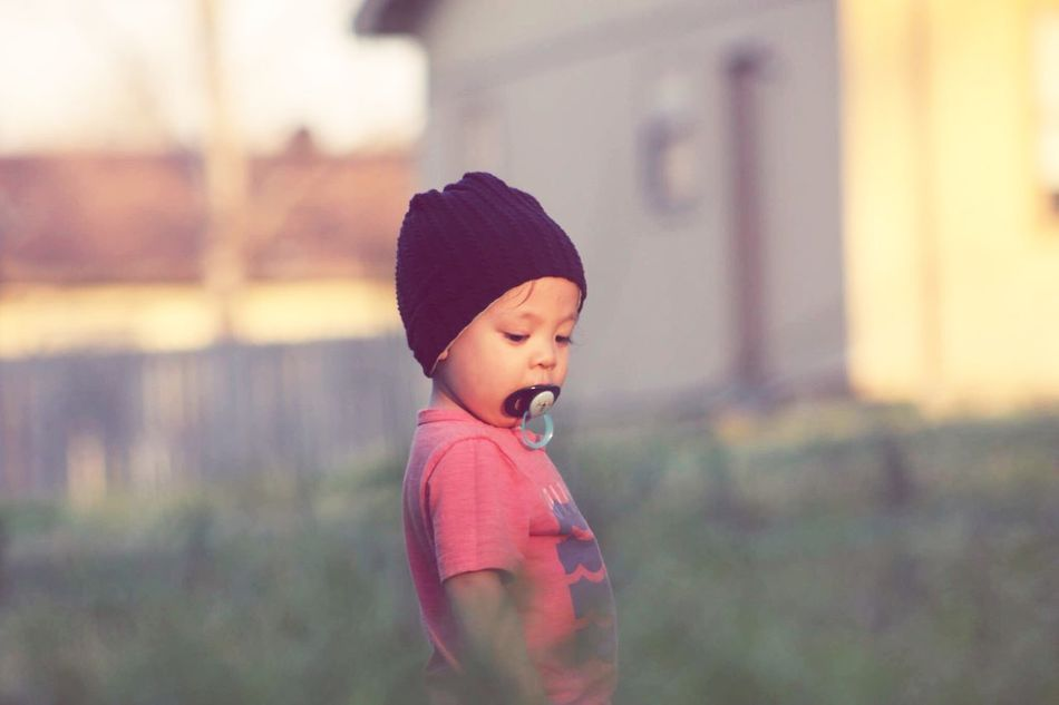 Childhood Focus On Foreground Outdoors One Person Day Close-up People Photography Baby ❤ Toddler  Toddlerlife Pacifier