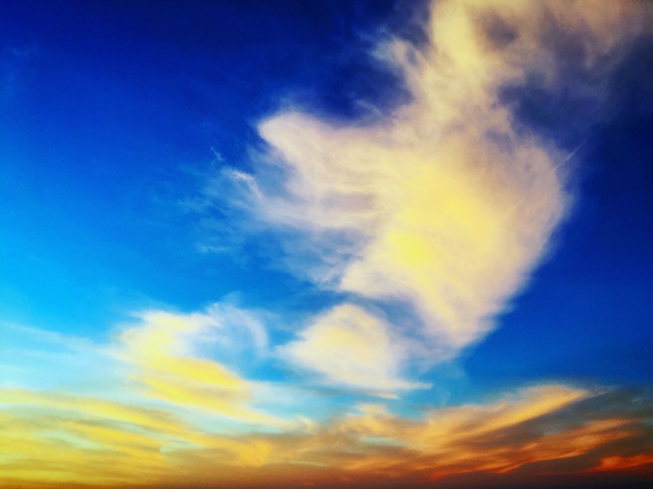 Cool clouds Sky Blue Nature Low Angle View Cloud - Sky Beauty In Nature No People Scenics Tranquility Backgrounds Tranquil Scene Outdoors Day