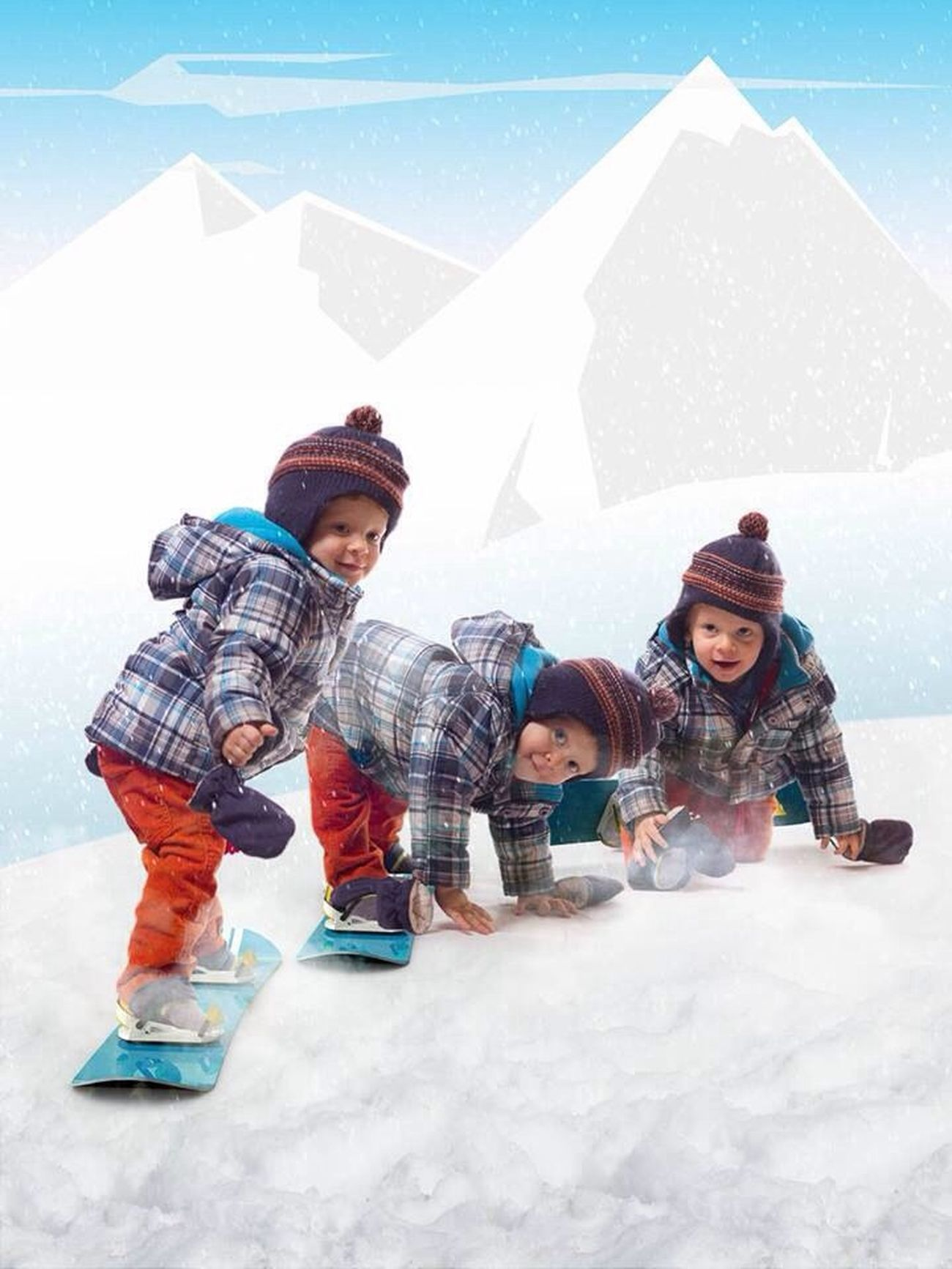 Let's go to the Snowpark / Snowboarding Kids CGI