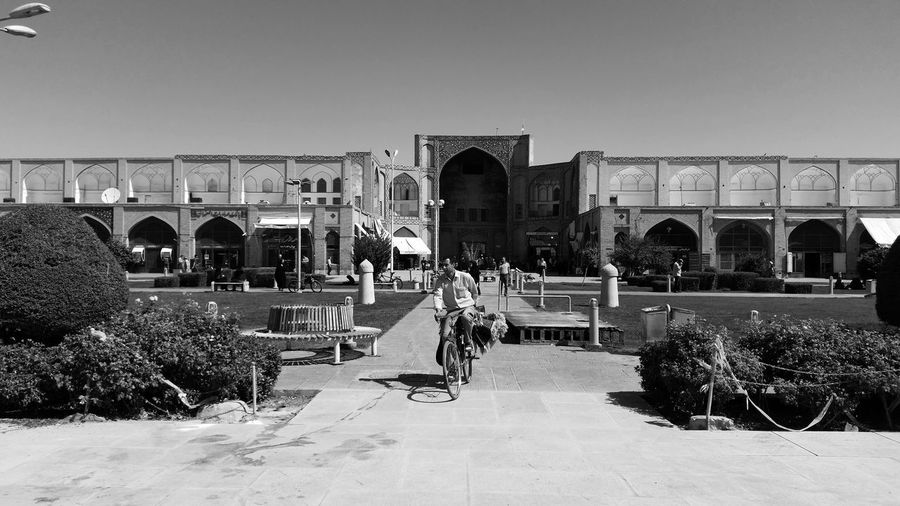 Architecture Attraktion Blackandwhite Historical Sights Historische Plätze Iran Isfahan Monochrome Naghshe Jahan Square Schwarzweiß Tourist Attraction