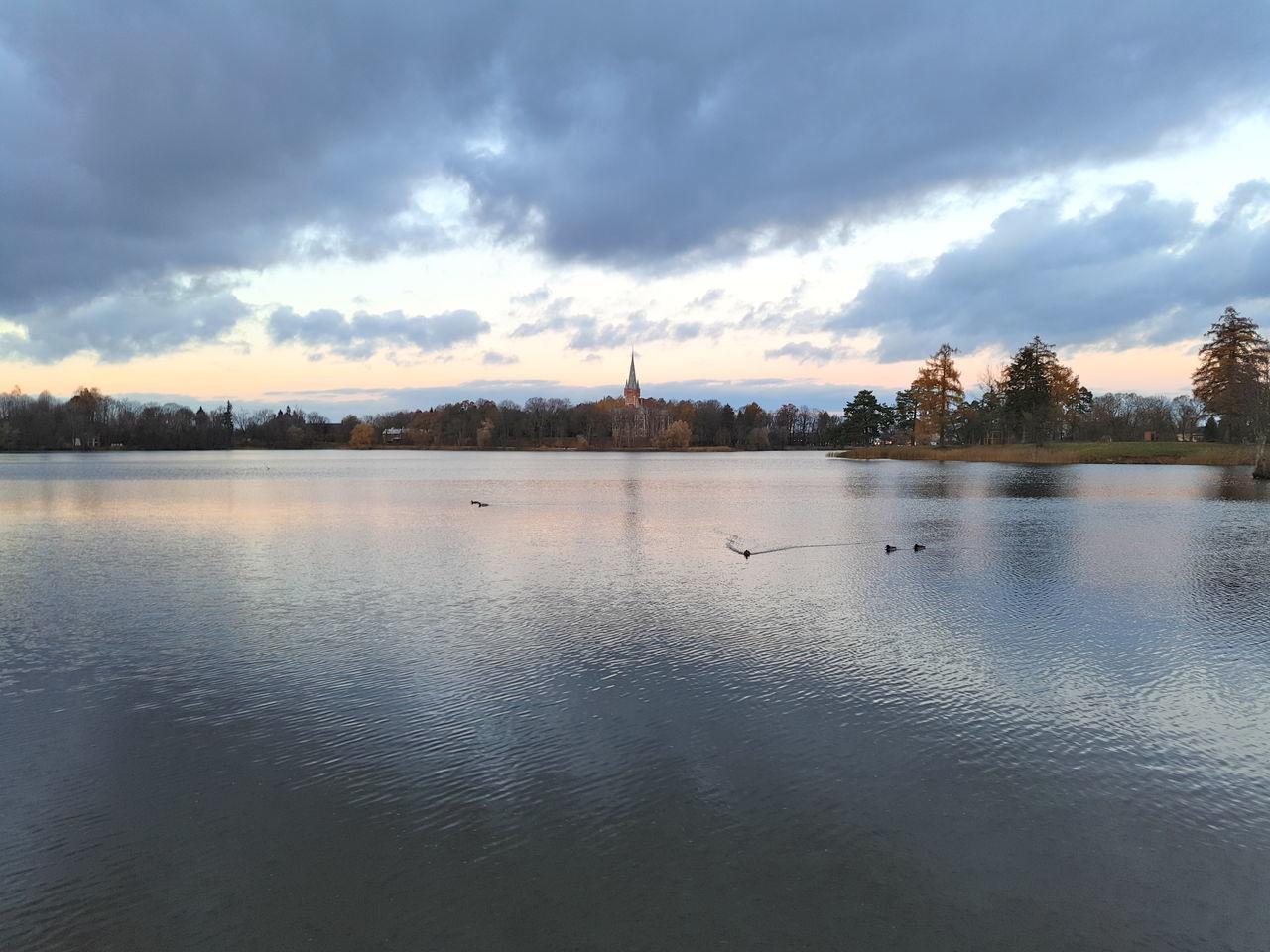 Castle Lentvaris Pilis Sky Water Outdoors Beauty In Nature Lentvaris Pilis Lithuania Castle First Eyeem Photo