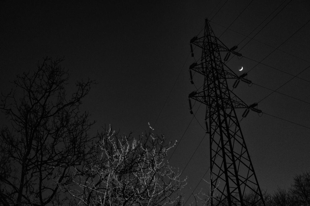 Electricity  Electricity Pylon Moon Moon Light Through Trees Moonlight Traliccio TraliccioElettrico Trellis