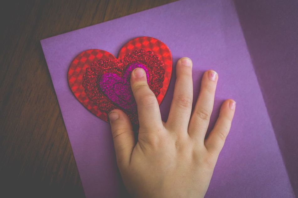 Love Valentine Child Childhood Hands Faceless Heart