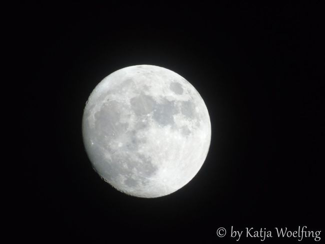 have a look to the moon from my balcony Full Moon Half Moon Moon At Day Moon At Night Mystery Night No People Selective Focus