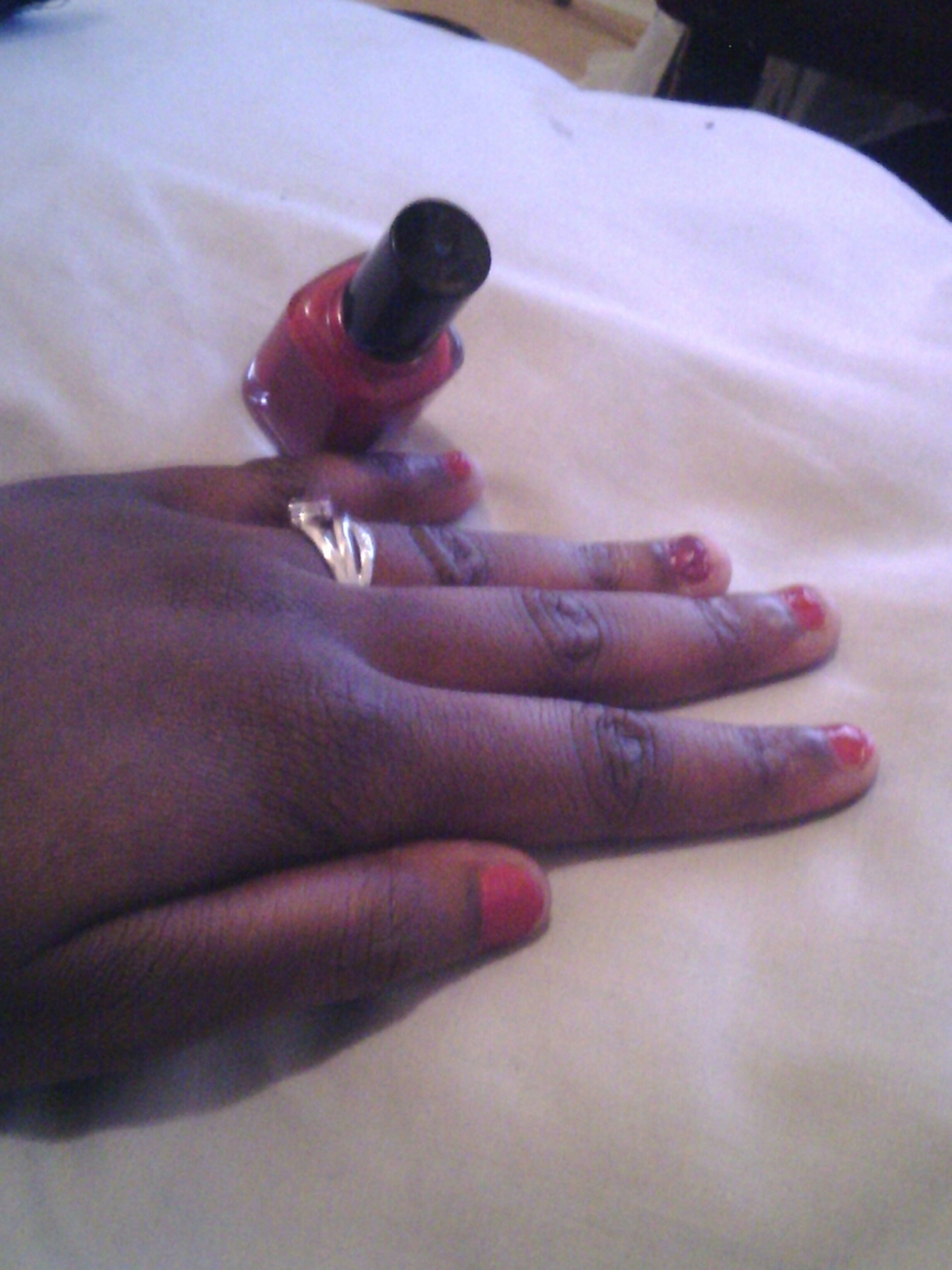 Loving my nails what my Lil God daughter did