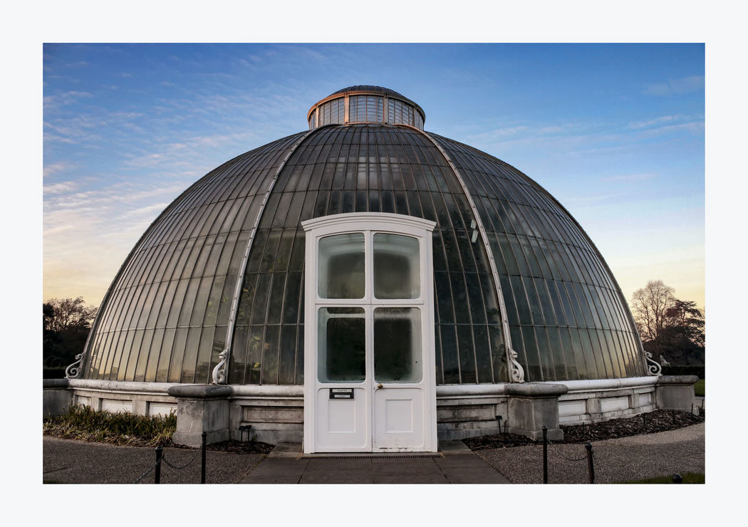 Palm House, Kew Arch Architectural Feature Architecture Building Building Exterior Built Structure City City Life Cloud Cloud - Sky Day Exterior Façade Greenhouse Modern No People Outdoors Palm House, Kew Gardens Setting Sun Sky Travel Destinations