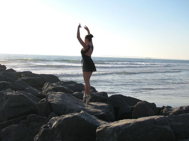 Dancer Ballerina Ballet Dancer Ocean Sea Rocks Jetty Eyeemphoto Ocean Dancing