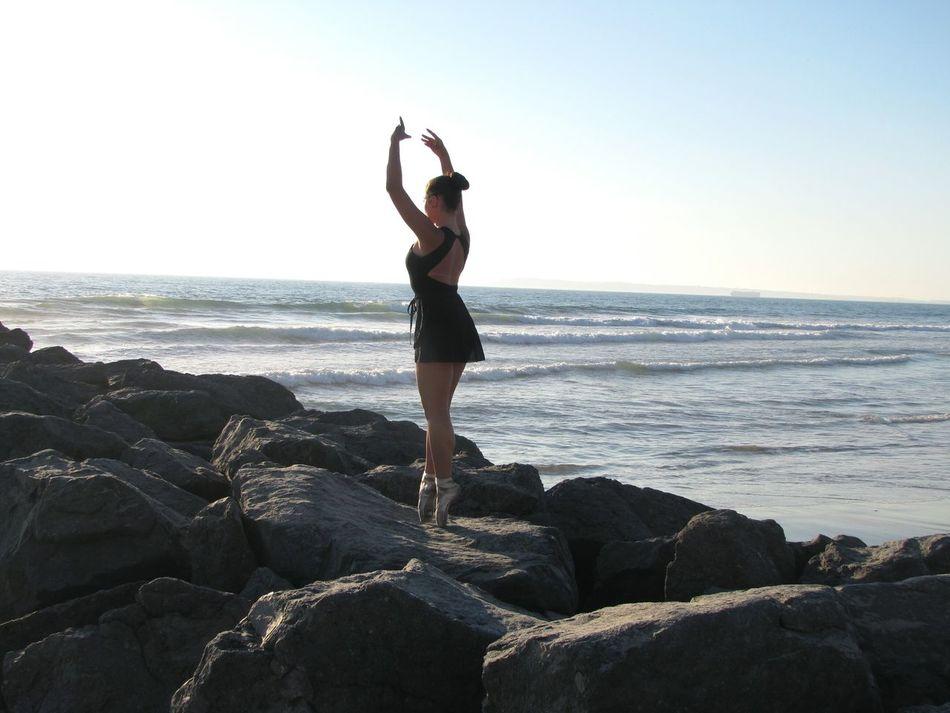 Dancer Ballerina Ballet Dancer Ocean Sea Rocks Jetty Eyeemphoto Ocean Dancing