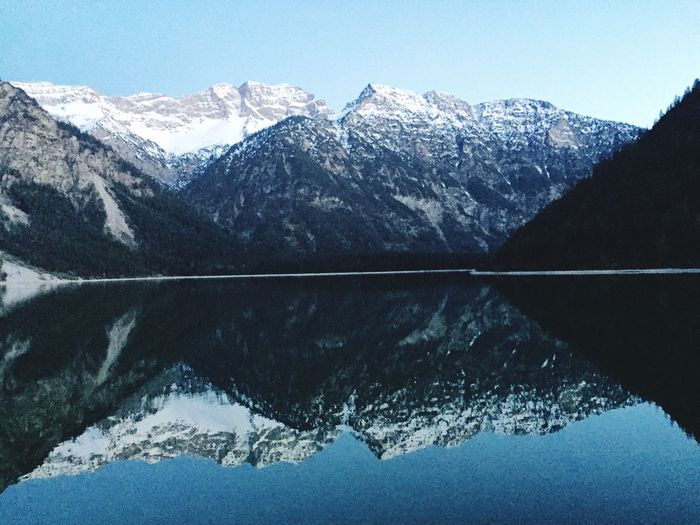 Mountain Mountain Range Water Beauty In Nature Lake Reflection